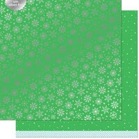Lawn Fawn - Let It Shine Snowflakes Collection - 12 x 12 Double Sided Paper with Silver Foil Accents - Glacial