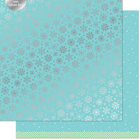 Lawn Fawn - Let It Shine Snowflakes Collection - 12 x 12 Double Sided Paper with Silver Foil Accents - Frozen