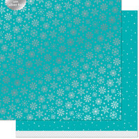 Lawn Fawn - Let It Shine Snowflakes Collection - 12 x 12 Double Sided Paper with Silver Foil Accents - Arctic