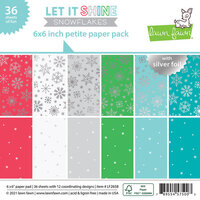 Lawn Fawn - Let It Shine Snowflakes Collection - 6 x 6 Petite Paper Pack