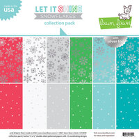 Lawn Fawn - Let It Shine Snowflakes Collection - 12 x 12 Collection Pack
