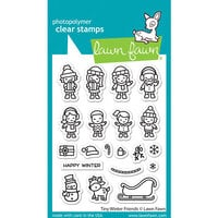 Lawn Fawn - Clear Photopolymer Stamps - Tiny Winter Friends