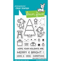Lawn Fawn - Clear Photopolymer Stamps - Merry Mice