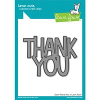 Lawn Fawn - Lawn Cuts - Dies - Giant Thank You