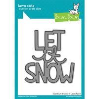 Lawn Fawn - Lawn Cuts - Dies - Giant Let It Snow