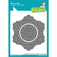 Lawn Fawn - Lawn Cuts - Dies - Outside In Stitched Snowflake
