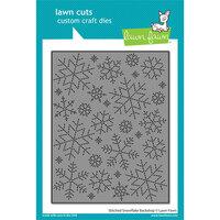 Lawn Fawn - Lawn Cuts - Dies - Stitched Snowflake Backdrop