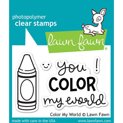 Lawn Fawn - Clear Acrylic Stamps - Color My World