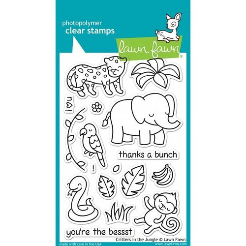 Lawn Fawn - Clear Photopolymer Stamps - Critters in the Jungle