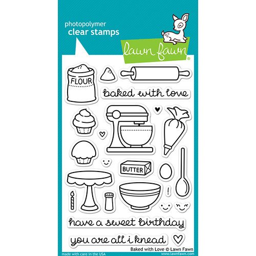 Lawn Fawn - Clear Photopolymer Stamps - Baked with Love