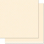 Lawn Fawn - Let's Polka, Mon Amie Collection - 12 x 12 Double Sided Paper - Vanilla Polka