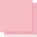 Lawn Fawn - Let's Polka, Mon Amie Collection - 12 x 12 Double Sided Paper - Strawberry Line Dance