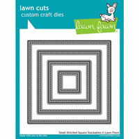 Lawn Fawn - Lawn Cuts - Dies - Small Stitched Square Stackables