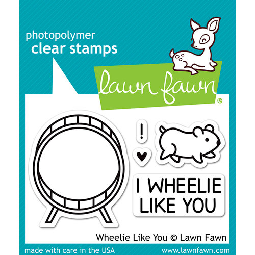 Lawn Fawn - Clear Photopolymer Stamps - Wheelie Like You