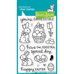 Lawn Fawn - Clear Acrylic Stamps - Eggstra Special Easter