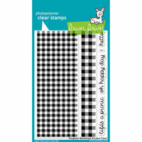 Lawn Fawn - Clear Photopolymer Stamps - Gingham Backdrops