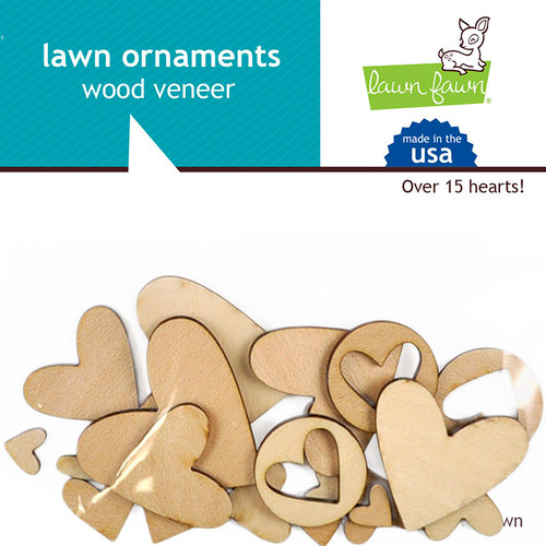 Lawn Fawn - Wood Veneer Pieces - Hearts