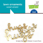 Lawn Fawn - Wood Veneer Pieces - Scripty Hugs