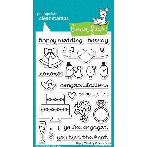 Lawn Fawn - Clear Photopolymer Stamps - Happy Wedding