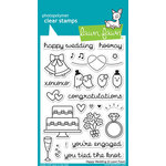 Lawn Fawn - Clear Acrylic Stamps - Happy Wedding