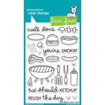 Lawn Fawn - Clear Acrylic Stamps - Let's BBQ
