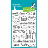 Lawn Fawn - Clear Photopolymer Stamps - Let's BBQ
