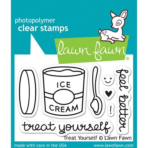 Lawn Fawn - Clear Photopolymer Stamps - Treat Yourself