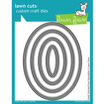 Lawn Fawn Small Stitched Oval Stackables Lawn Cuts Dies