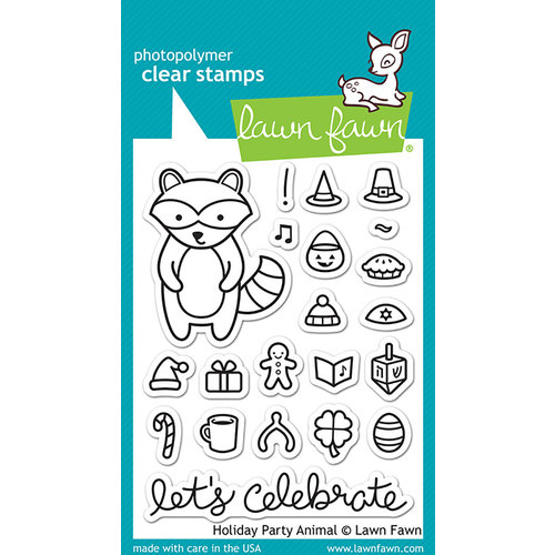 Lawn Fawn - Clear Photopolymer Stamps - Holiday Party Animal