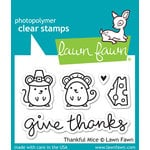 Lawn Fawn - Clear Acrylic Stamps - Thankful Mice