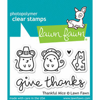 Lawn Fawn - Clear Photopolymer Stamps - Thankful Mice