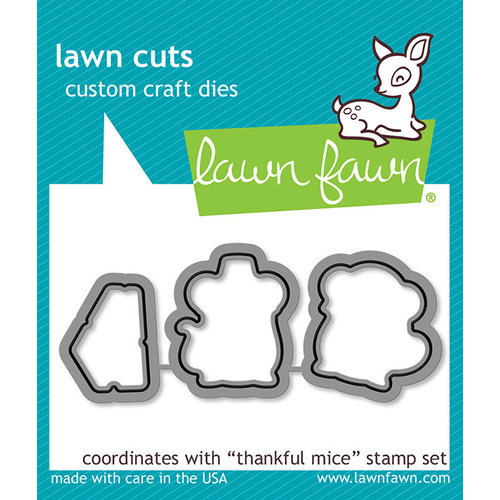 Lawn Fawn Thankful Mice Die Set