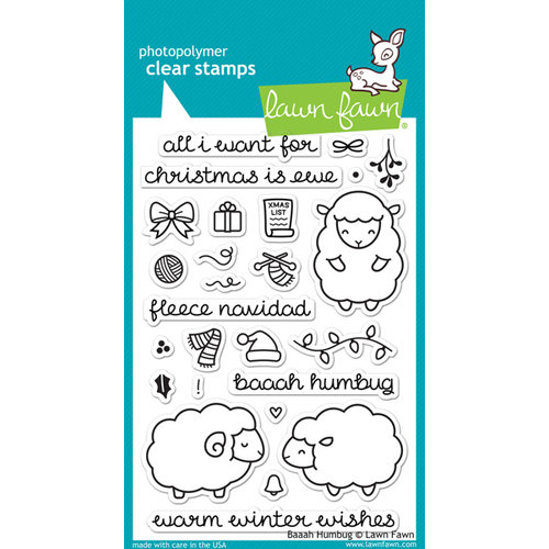 Lawn Fawn - Clear Photopolymer Stamps - Baaah Humbug