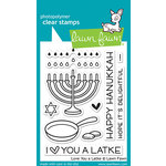 Lawn Fawn - Clear Acrylic Stamps - Love You a Latke