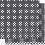 Lawn Fawn - Lets Polka in the Dark Collection - 12 x 12 Double Sided Paper - Werewolf Polka