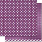 Lawn Fawn - Lets Polka in the Dark Collection - 12 x 12 Double Sided Paper - Wicked Witch Polka