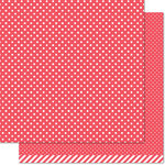 Lawn Fawn - Lets Polka in the Dark Collection - 12 x 12 Double Sided Paper - Dracula Polka