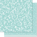 Lawn Fawn - Lets Bokeh in the Snow Collection - 12 x 12 Double Sided Paper - Ice Blue Bokeh