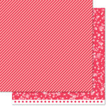 Lawn Fawn - Lets Bokeh in the Snow Collection - 12 x 12 Double Sided Paper - Holly Berry Twist