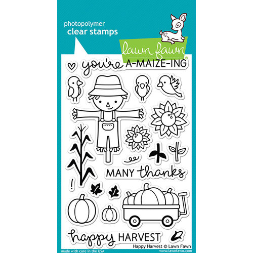 Lawn Fawn - Clear Acrylic Stamps - Happy Harvest