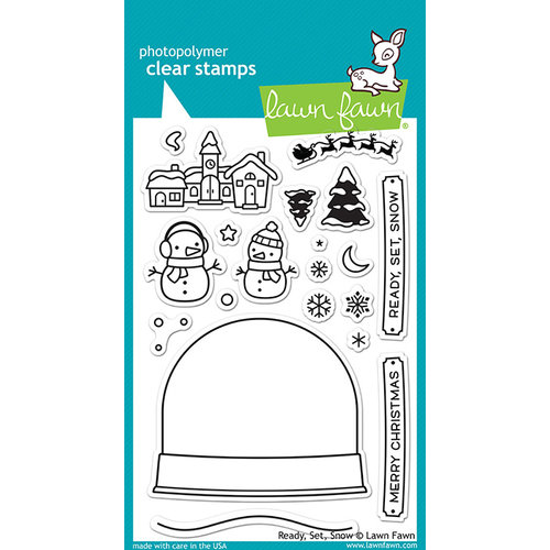 Lawn Fawn - Clear Photopolymer Stamps - Ready, Set, Snow
