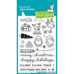 Lawn Fawn - Clear Photopolymer Stamps - Toboggan Together