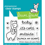Lawn Fawn - Clear Photopolymer Stamps - Winter Alpaca