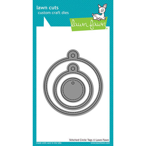 Lawn Fawn - Lawn Cuts - Stotched Circle tags