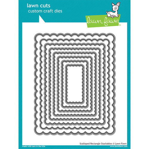 Lawn Fawn - Lawn Cuts - Dies - Scalloped Rectangle Stackables