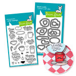 Lawn Fawn - Die and Acrylic Stamp Set - Love You A Latte Bundle