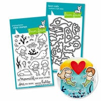 Lawn Fawn - Die and Acrylic Stamp Set - Mermaid for You Bundle