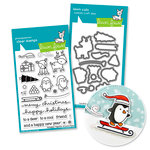 Lawn Fawn - Die and Acrylic Stamp Set - Baby - Toboggan Together Bundle