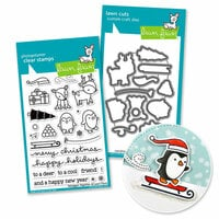 Lawn Fawn - Die and Acrylic Stamp Set - Toboggan Together Bundle