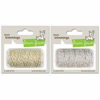 Lawn Fawn - Lawn Trimmings - Bakers Twine Spool - Silver and Gold Sparkle - 2 Pack Set